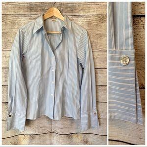 Michael Kors Striped Button Down Collared Shirt